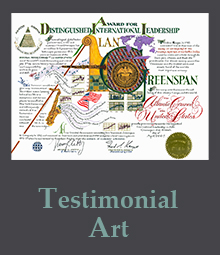 Testimonial Works of Art page
